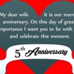 5th Marriage Anniversary Wishes To Wife Facebook