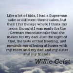 Best Quotes by Willie Geist about Age