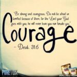 Bible Quote Be Strong And Courageous Twitter