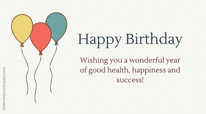 Birthday Wishes For Success