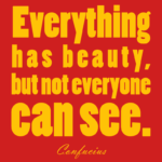 Confucius Quotes Everything Has Beauty