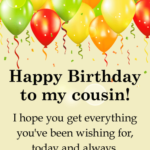 Happy Birthday Wishes For Cousin Twitter
