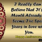 Happy First Month Marriage Anniversary Pinterest