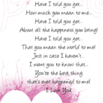 I Love You Poems or Quotes For Him From The Heart