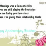 Marriage Anniversary Wishes To Brother Tumblr