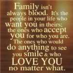 Quotes About Family Not Always Being Blood Pinterest