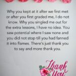 Thank You Message For Teacher Tumblr