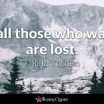 Tolkien Wander Quote Tumblr